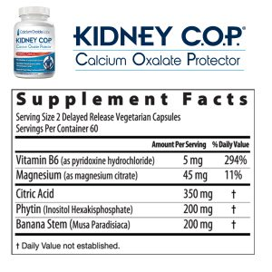 Kidney COP Supplement Facts and Ingredients